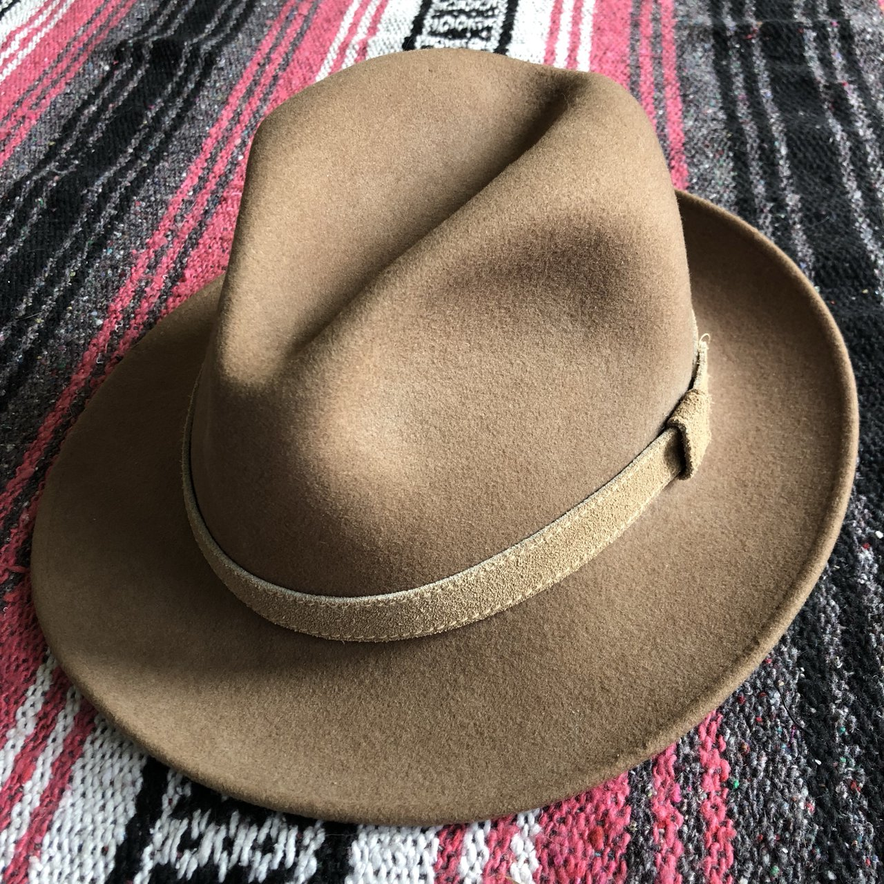 Vintage Orvis 100% Wool Brown Fedora Hat Made in the USA. - Depop 92db30f9438