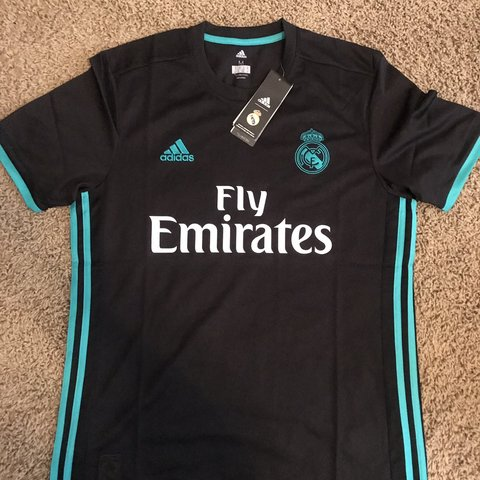 d0fbdb684cd Real Madrid Soccer Jersey - Medium   Black Can combine   if - Depop