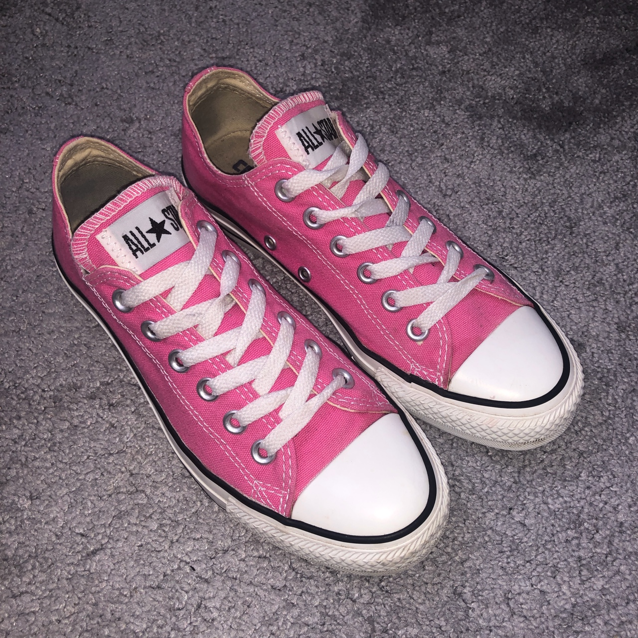 Pink converse trainers, size 5. Bought