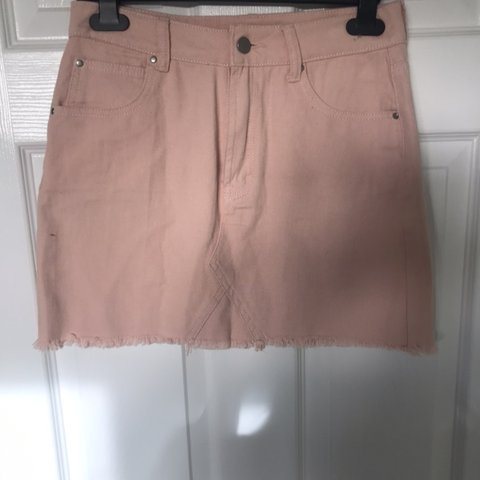 5f3036cce2 @charlotte_woody. 5 months ago. Manchester, United Kingdom. DON'T BUY,  RESERVED Pastel pink denim skirt ...