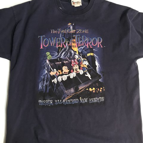 ed87ecbd Disney Twilight Zone Tower of Terror vintage T-Shirt Adult & - Depop
