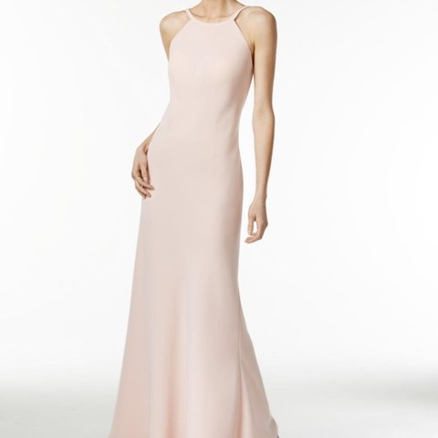 b8bc44f3c26 Calvin Klein blush pink maxi gown. Worn once to a wedding