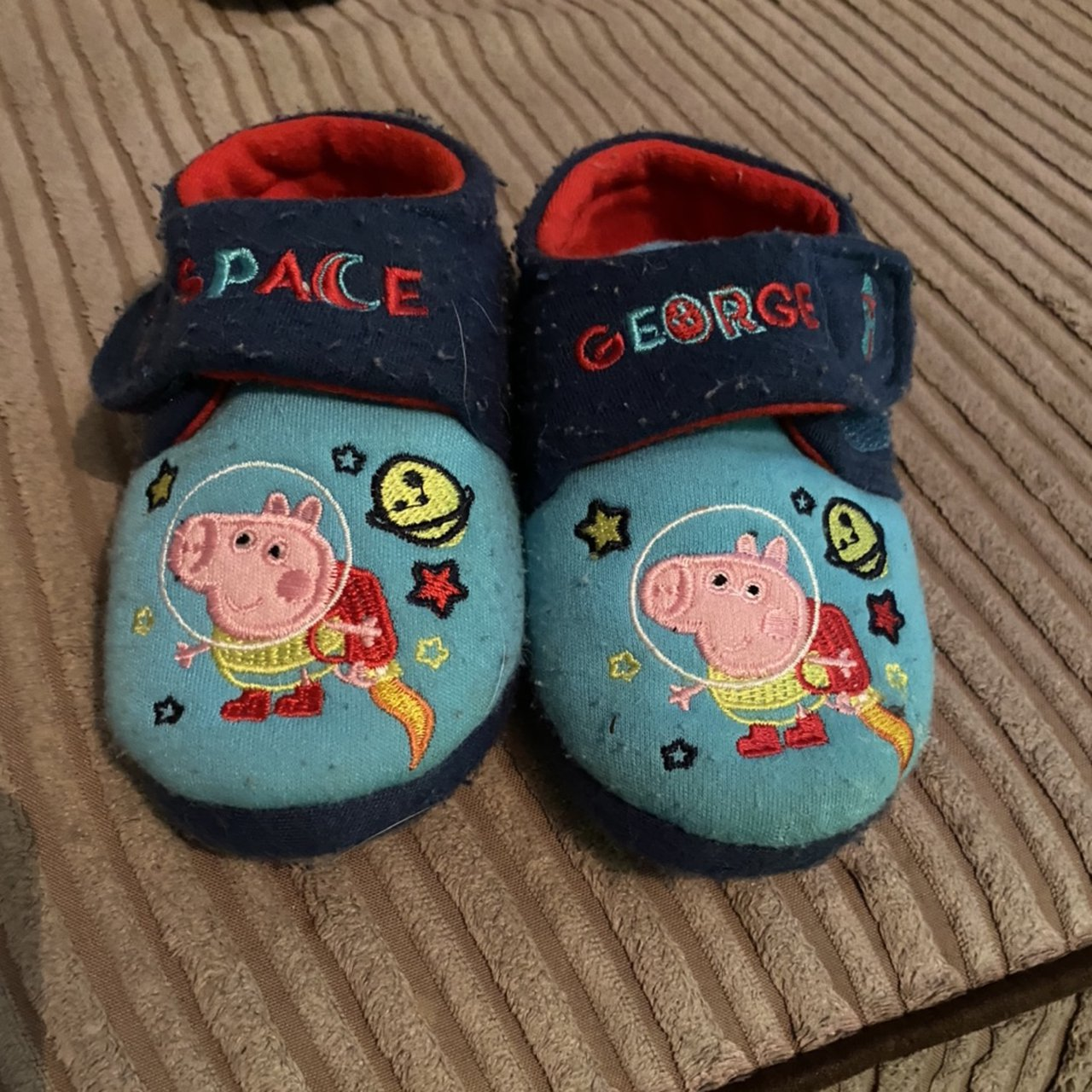 George Pig slippers - Infant size 5