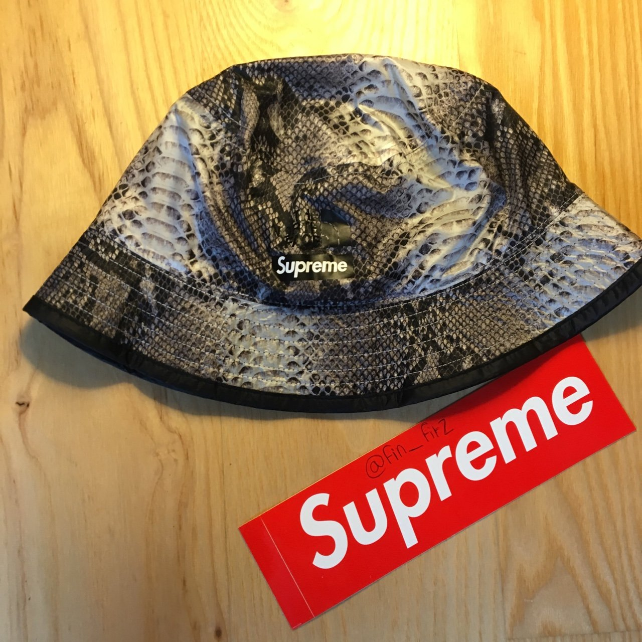 the north face x supreme snake skin bucket hat • snake the - Depop ca1d7e2f19f