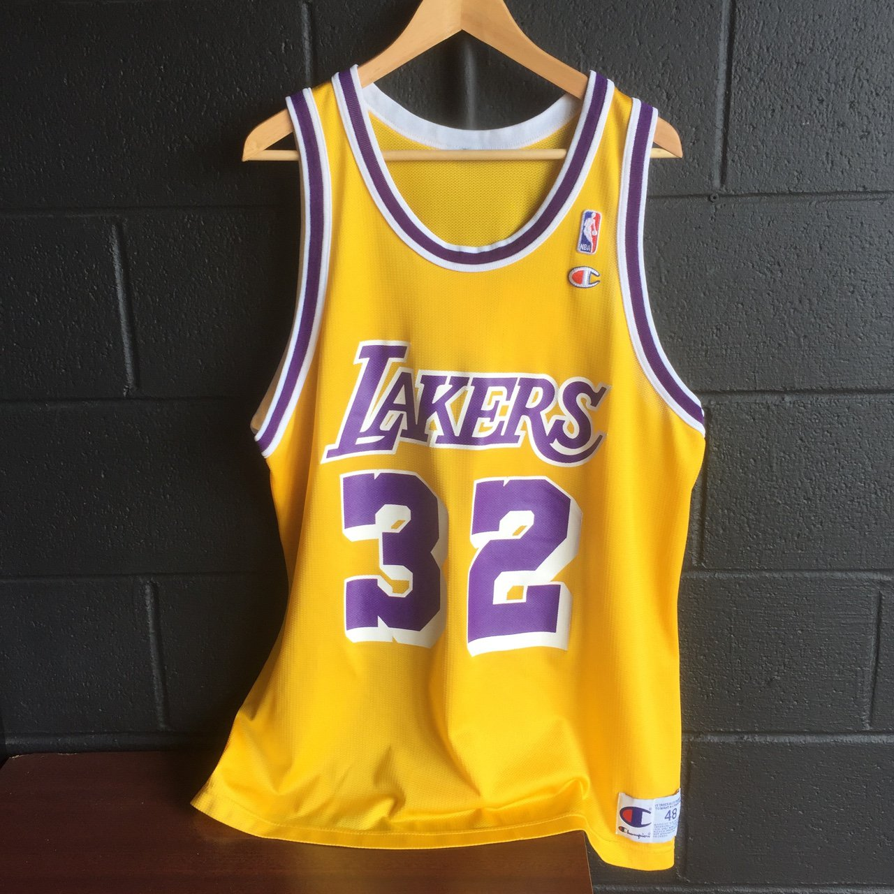 Champion Earvin Magic Johnson Los Angeles Lakers Home Jersey - Depop a21b76528