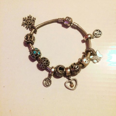 dfcdfa341 100% authentic pandora bracelet and charms all in good 11 + - Depop