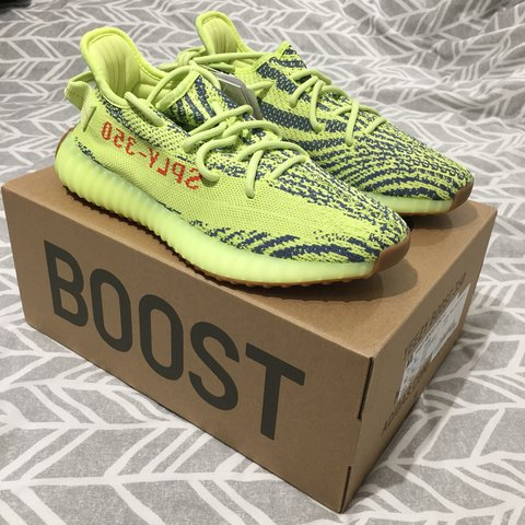 79c58ded7e313 SOLD  Adidas Yeezy semi frozen yellow UK 6.5 Condition  DS - Depop