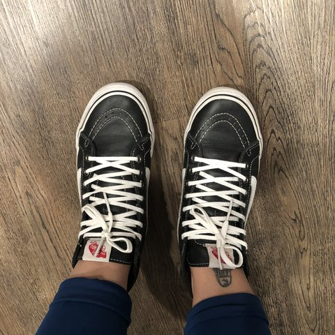 04280f18f5 Sk8-Hi Slim Leather shoes by Vans. Well worn