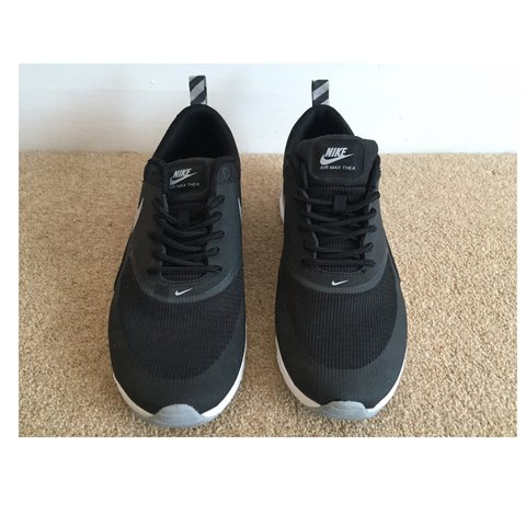650a7446c7a Womens grey and black Nike Thea trainers. Size 5. Only worn - Depop