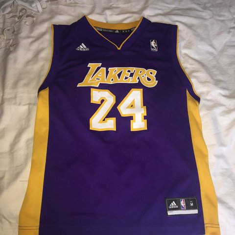 869294c4ca0 Purple Adidas Lakers basketball top, bought from official in - Depop