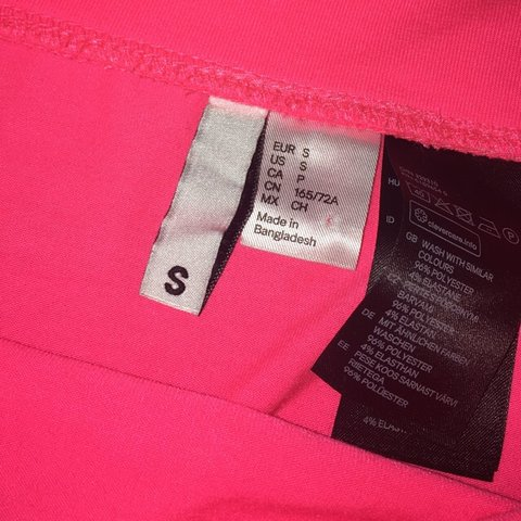 1108f0aae9 Illuminous pink skirt Ideal for Raves From h&m Size Small - Depop