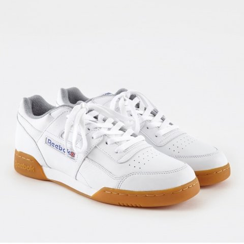 412738e3d505 Reebok Workout Plus R12 - White Reebok Royal Flat Grey V - - Depop