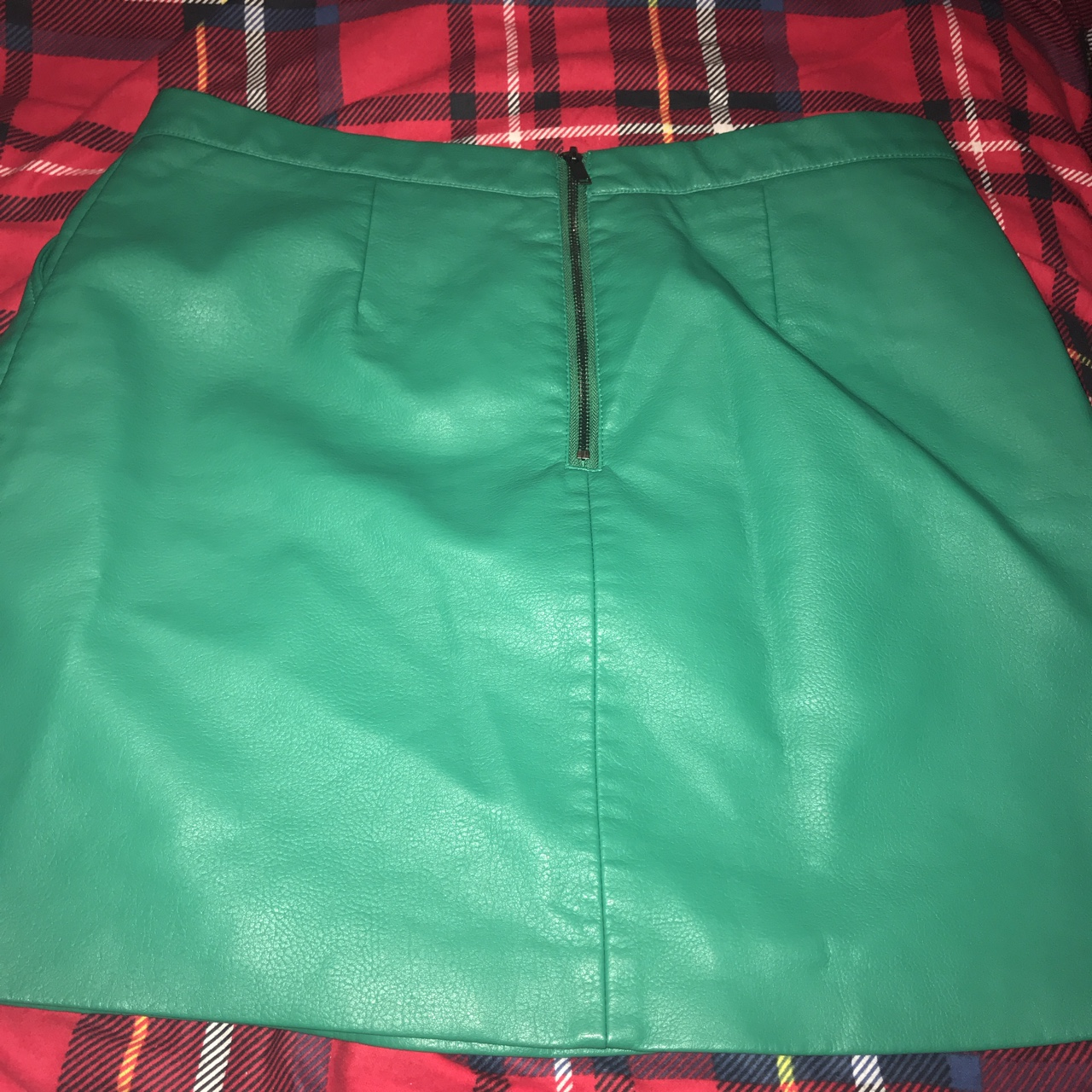 classic shoes sale usa online best cheap Emerald green faux leather mini skirt, size 18 from... - Depop