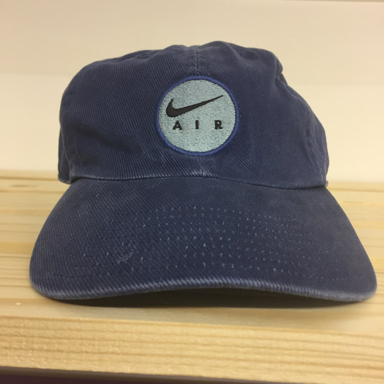 38ba0c15d93 Vintage Nike Air cap    Navy blue    Corduroy with logo on - Depop