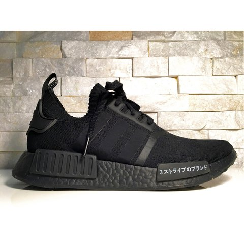 045e44819b400 Adidas NMD R1 PK Japan Triple Black⚫ ⚫ ⚫ Condition  in EU - Depop