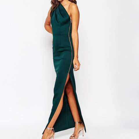 34eb74026f9 Asos emerald green maxi dress. Worn once for a wedding. for - Depop