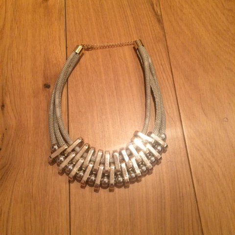 Silver Collar Chain necklace never been worn Depop