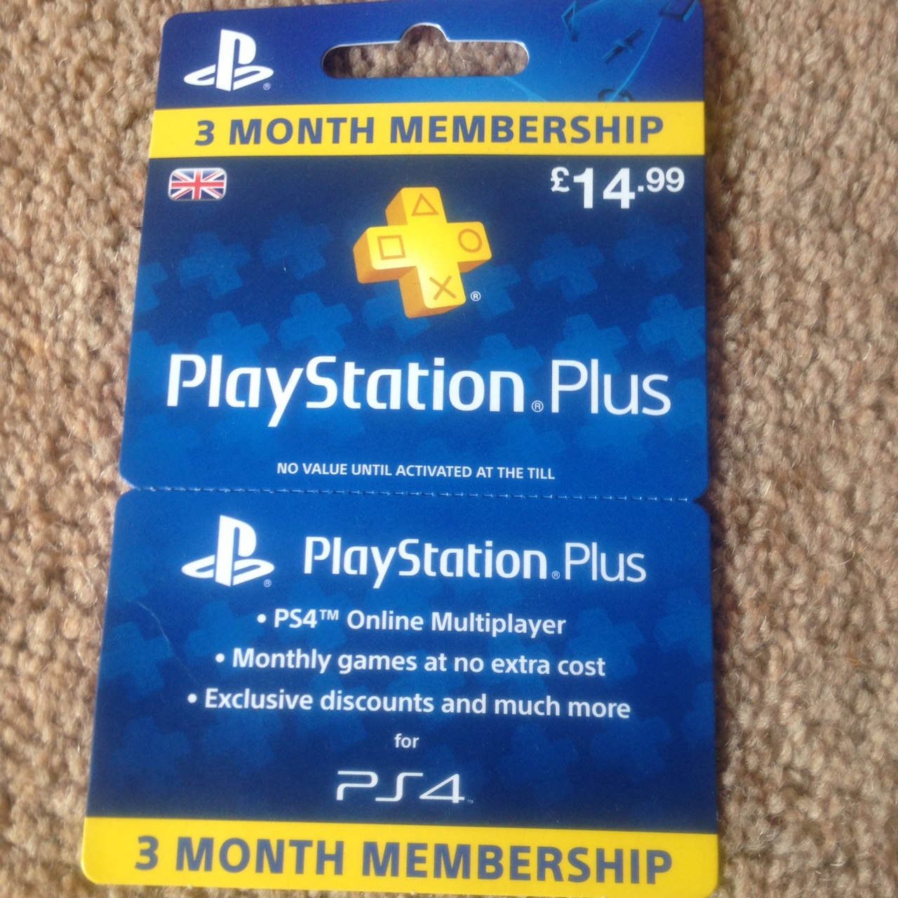 3 Month PlayStation Plus Membership, decided to get    - Depop