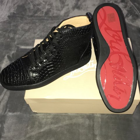 76aae4d728bf Brand New AUTHENTIC Christian Louboutins Snakeskin Trainers - Depop