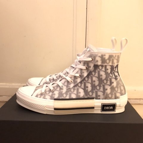9a5b7ef3435150 B23 HIGH-TOP SNEAKERS IN DIOR OBLIQUE SS19 DIOR SNEAKERS