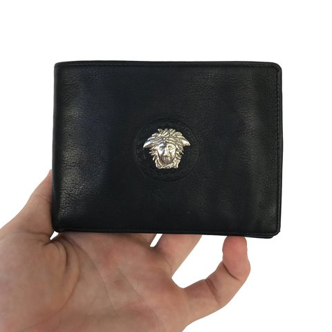 2a409665d6 Vintage Gianni Versace Genuine Leather Wallet! Great used - Depop