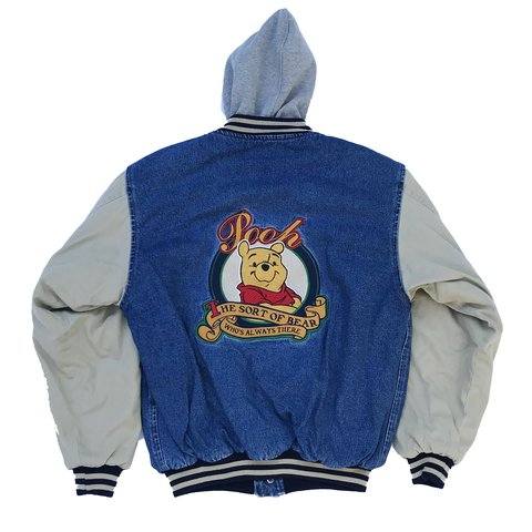 5e6010ecc018 Vintage Winnie the Pooh embroidered hooded jacket! Great on - Depop
