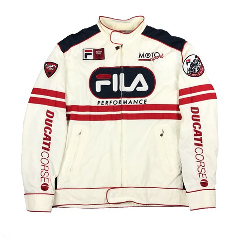 4f094f0278a6 @whatevertheweather. last year. Sacramento, United States. Vintage Fila  Ducati Corse Motorcycle Racing Jacket! Good condition.