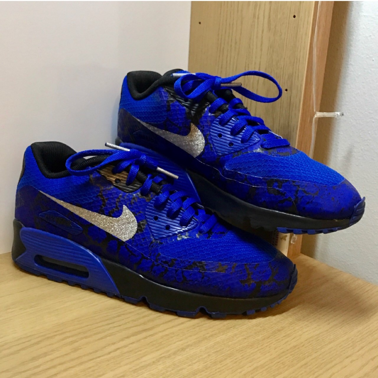 pretty nice 100% authentic sale retailer Blue Sparkly Nike Air Max 90. Unisex. From... - Depop