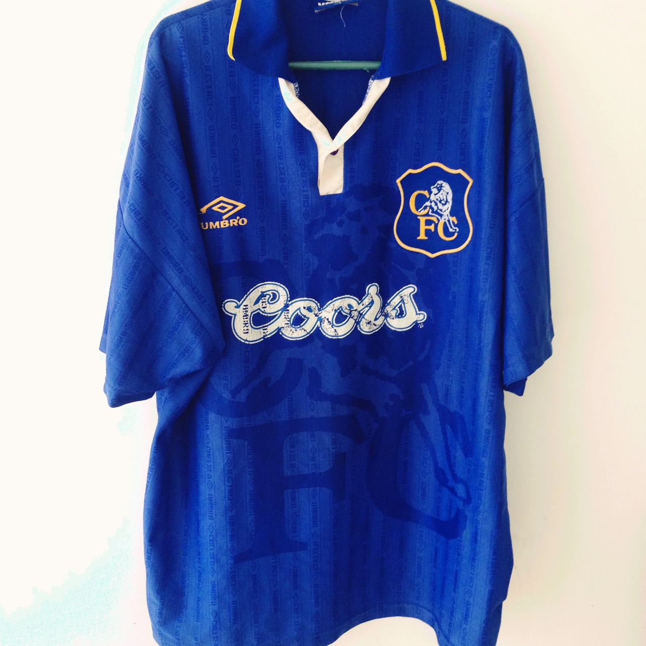 huge selection of 6fd9a acb73 Vintage Chelsea 1995 Umbro Home jersey. The classic ...