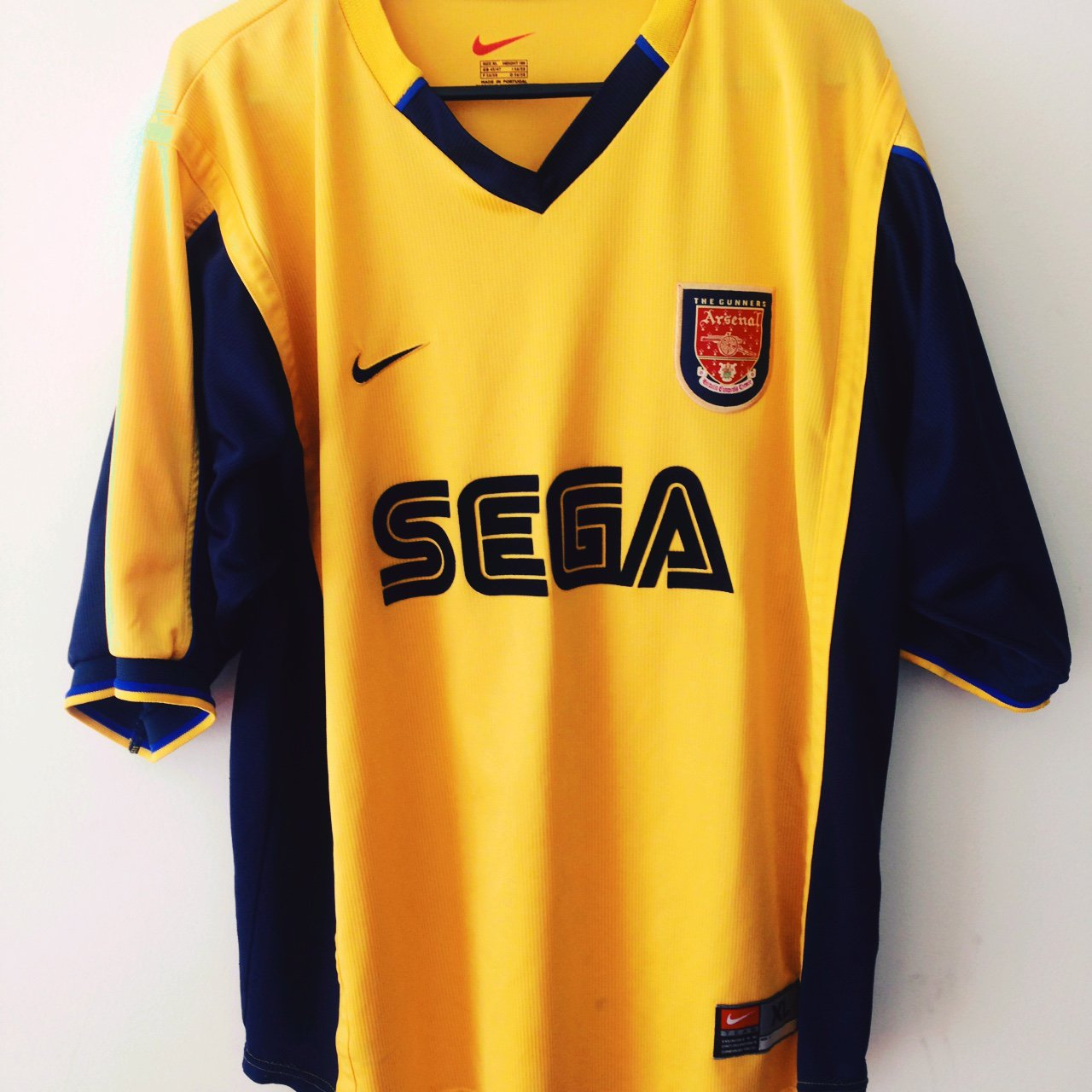 Arsenal 2000 Sega Dreamcast away soccer jersey. One of the I - Depop 211eed229