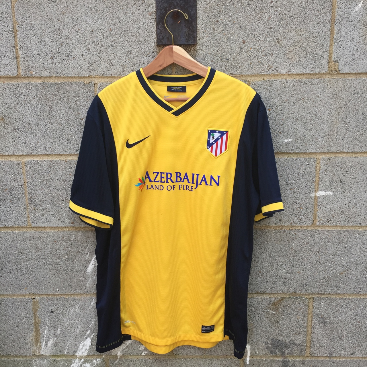Atletico Madrid 2013 14 Away Jersey In Yellow With Depop