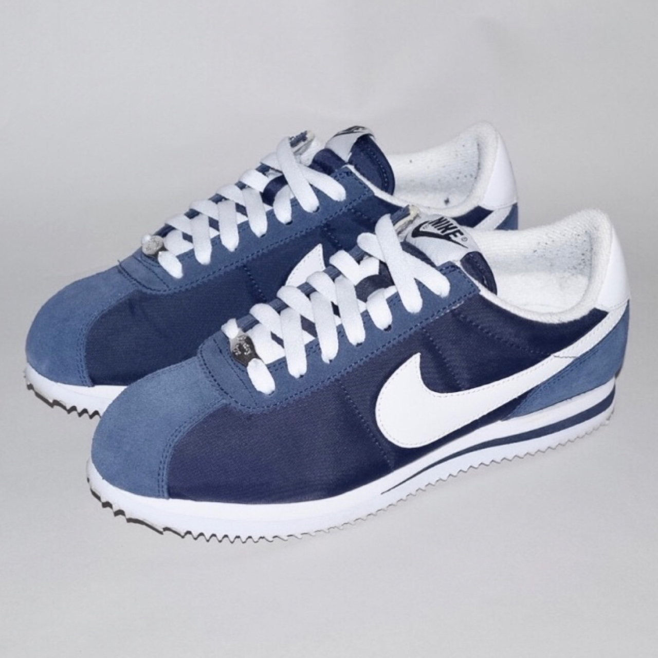 new product 33766 ef6e6 Authentic Nike Cortez Basic Nylon in midnight navy... - Depop
