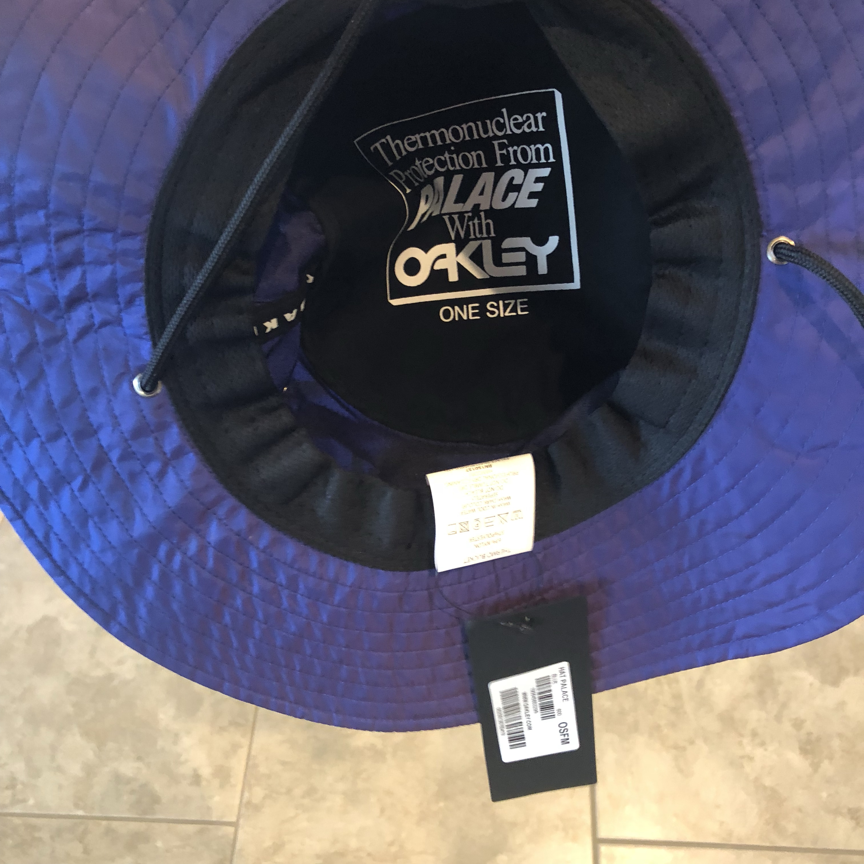 b2f04cd0 Blue Palace x Oakley Thermo Hat Condition: 10/10,... - Depop