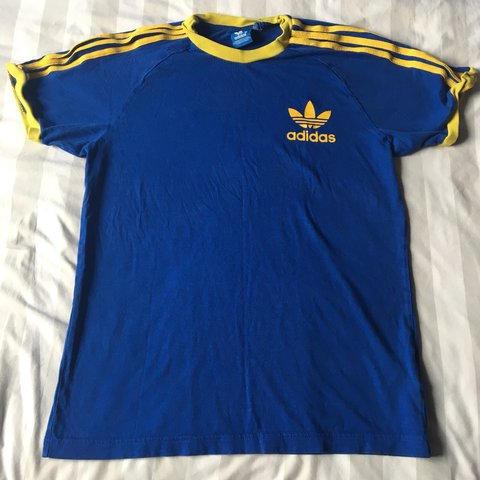 adidas california t shirt blue yellow
