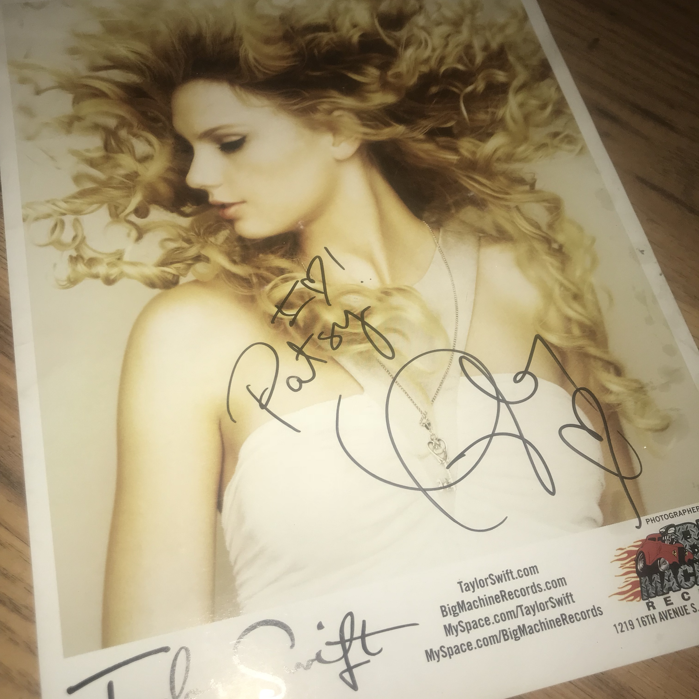 Taylor Swift Signed Photo From Fearless Era Official Depop