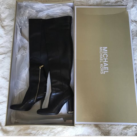 many fashionable good a few days away Amazing Michael kors thigh high boots with gold... - Depop
