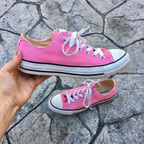 Serve Barbie vibes with these hot pink converse!! Size 8 all - Depop e54d97e57