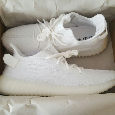 b65187f6a Yeezy Boost 350 V2 Cream triple white. Brand new 10 10. up - Depop