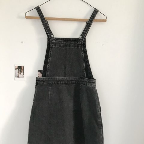 7a569fc8c02 ASOS denim overall dress in faded black lovin  this ASOS 2 - Depop