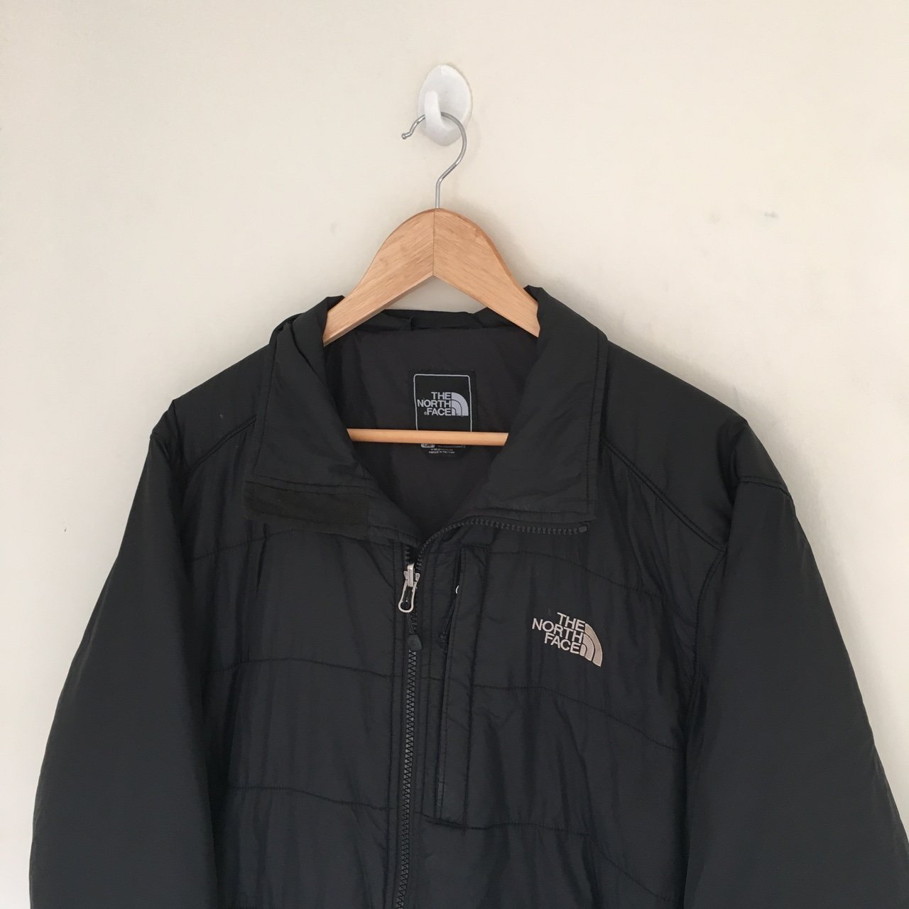 North face thin puffer jacket size large Mens • black • good - Depop a3a342b6b