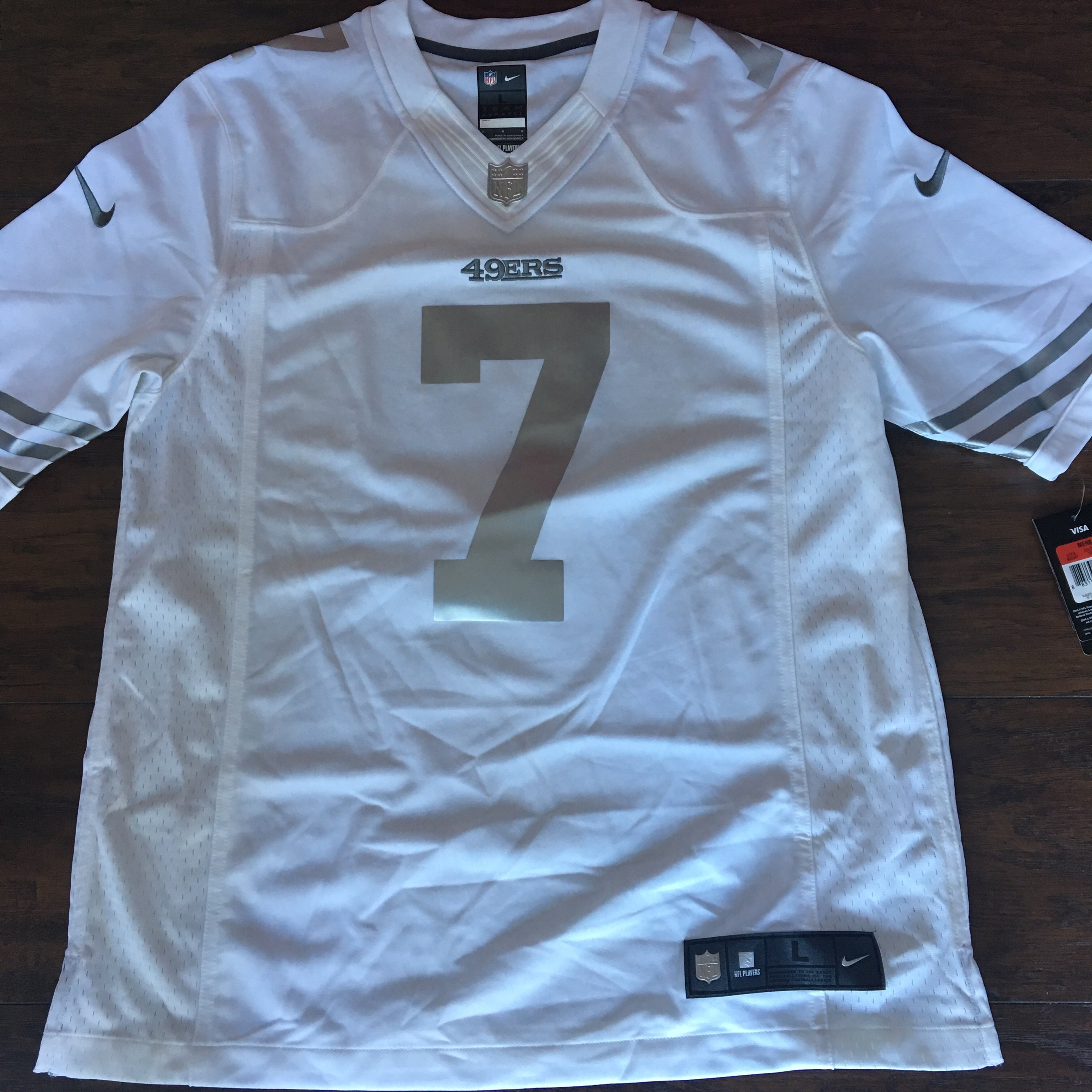 hot sale online 2ddb2 c0a11 Nike 49ers kaepernick jersey Special edition... - Depop