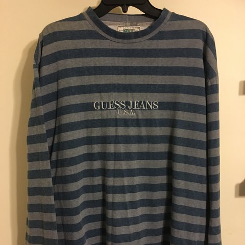 be4c3a38a7a3 @rs_vintage_oc. 2 years ago. Garden Grove, United States. Vintage OG Guess  striped long sleeve shirt ...
