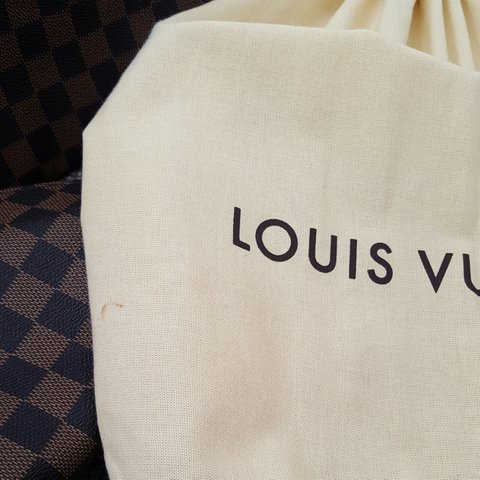8e0bc0e8338f GENUINE LARGE LOUIS VUITTON CANVAS DUST BAG small mark on - Depop