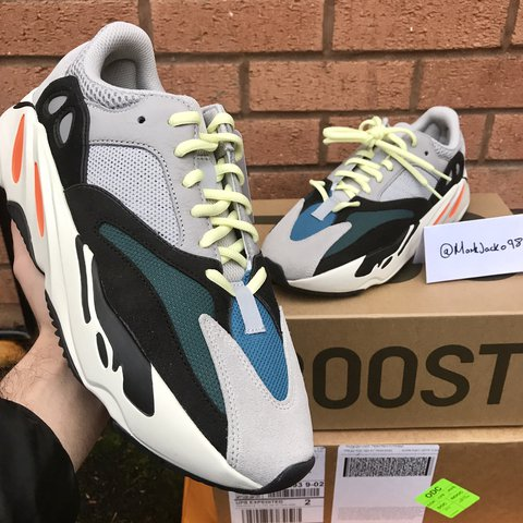 a5a3caf238169 Adidas Yeezy Wave Runner 700 Boost • Solid Grey Chalk Black - Depop
