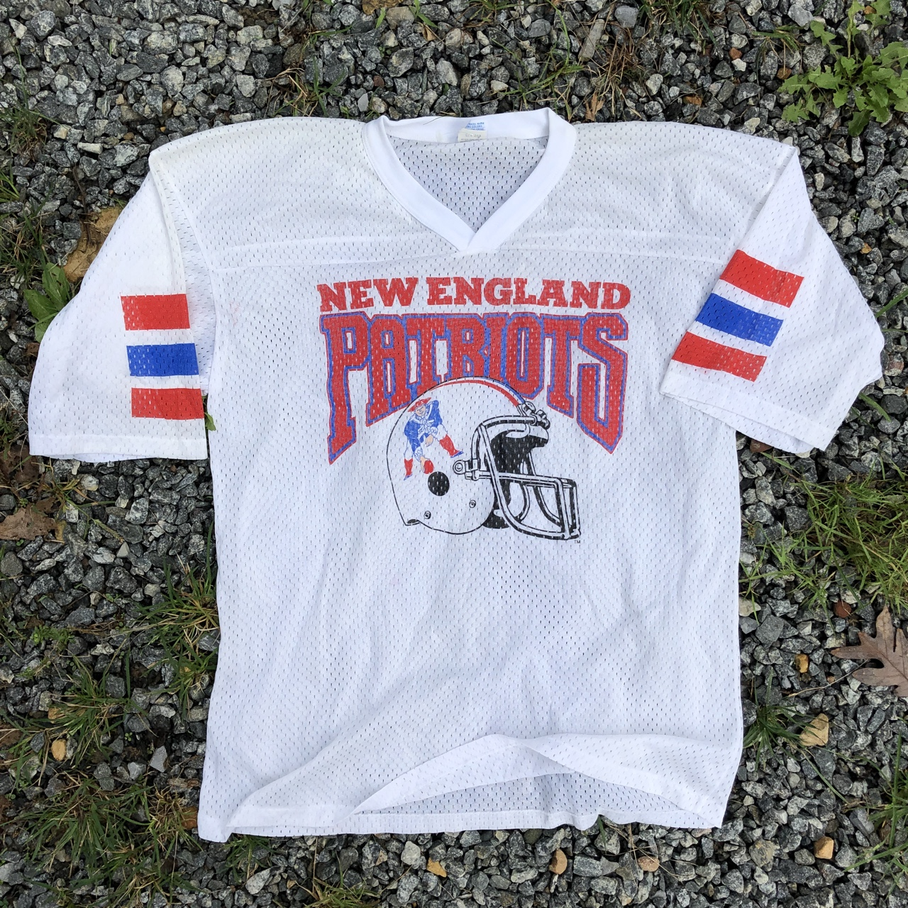 competitive price cd654 05502 Vintage 90s New England Patriots Jersey Beautiful... - Depop