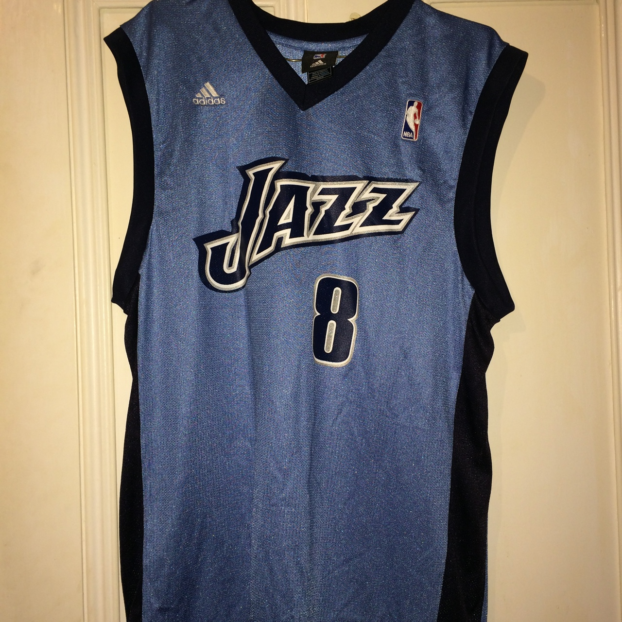 buy popular 75a24 e0c20 Retro baby blue Derron Williams #8 Utah Jazz... - Depop