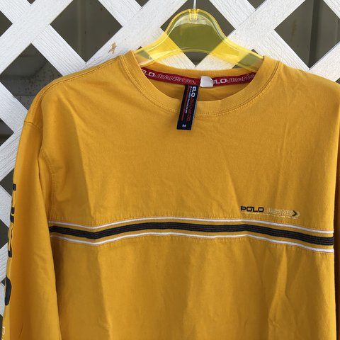 19b92149 @madischulte. last year. St. Peters, United States. Polo Sport Ralph Lauren  Yellow long sleeve shirt. Spell out ...