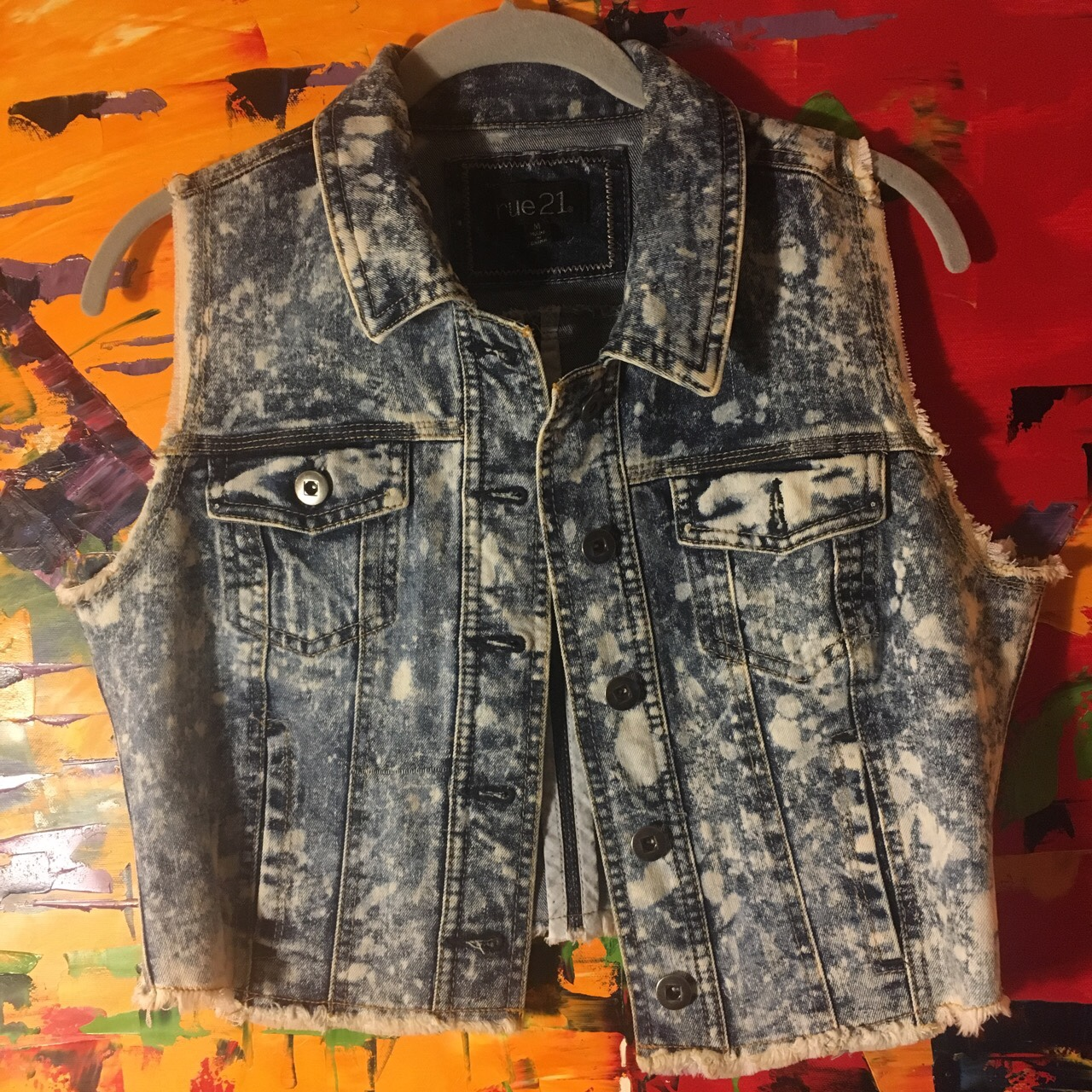 Women cut punk jean vest  An edgy edition to any    - Depop