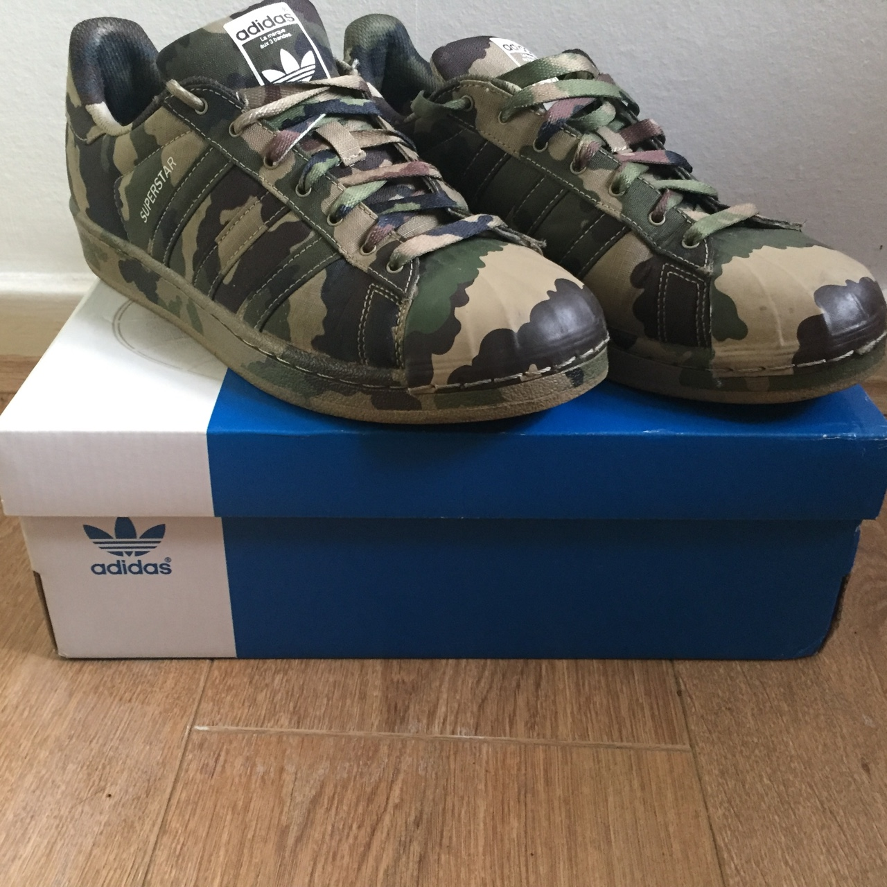 online retailer 7bf21 09794 Adidas superstar camo Size uk 7.5 Used but condition... - Depop