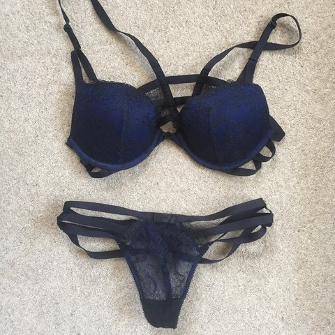 05c900df54f0d @tessc. 11 months ago. Birmingham, United Kingdom. Victoria's Secret  matching set of padded bra and thong ...